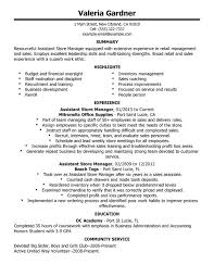 unforgettable assistant store manager resume exles to stand out