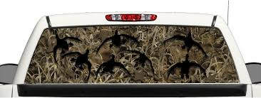 Buy Grassland Camo Ducks Truck SUV Rear Window Graphic Decal ... Best Window Decals Graphics In Calgary For Trucks Cars Auto Motors Intertional English British Flag Rear Graphic Black Eagle Miller 19972018 F150 American Muscle Perforated Real 3d Grim Reaper Death Skull Decal Sticker Car Flying Pilot F16 Truck Suv Van Etsy Buy Grassland Camo Ducks Harley Davidson Platinum Design Build Co Coastal Sign Llc Buck At Dawn Police Elite And