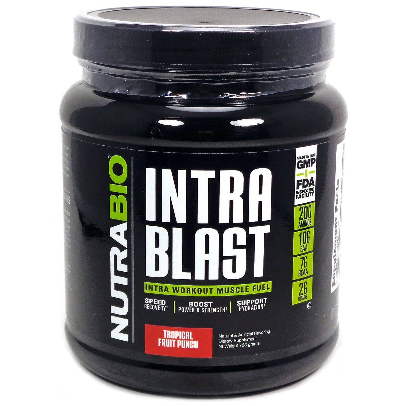 Nutra Bio Intra Blast Intra Workout Muscle Fuel - Tropical Fruit Punch, 30 servings