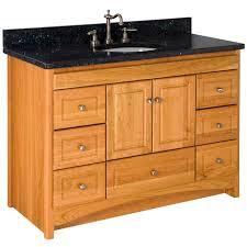furniture varnished wood bathroom vanity cabinets with granite
