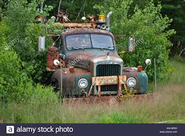 Old Mack Tow Truck On The Side Of The Road Stock Photo: 136868860 ...