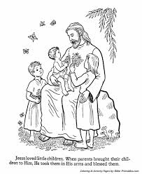 Jesus Loves All The Little Children Coloring Pages 17