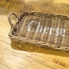 gastro nahrungsmittelgewerbe rattan tablett natur vintage