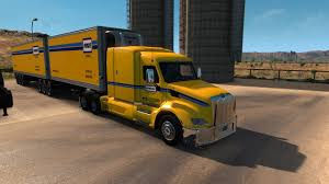 American Truck Simulator Penske Double Trailers 579 Peterbilt - YouTube
