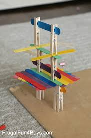 Five Engineering Challenges With Clothespins Binder Clips And Craft Sticks