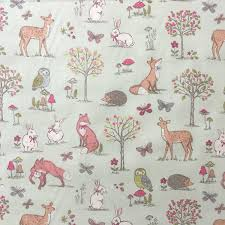 Fabric For Curtains Uk by Animal Duck Egg 100 Lifestyle Cotton Print Woodlands Collection