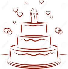 Wedding Cake clipart vector 2