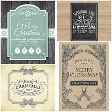 Vintage Christmas Ornament Cards With Board Vector Free Download