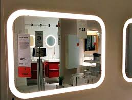 wall mirrors led magnification best lighted makeup mirror in