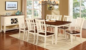 Furniture Of America Forel Two Toned 9 Piece Dining Table Set