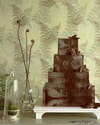 For The Guys Chocolate Faux Bois Grooms Cake