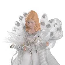 7ft Fibre Optic Christmas Tree by 30 Cm Fibre Optic Christmas Tree Topper Angel White Silver