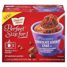 Duncan Hines Perfect Size for 1 Chocolate Lovers Cake Mix 10 16
