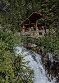 100 Water Fall House Lake Agnes Tea And Fall On A Bright Summer Morning
