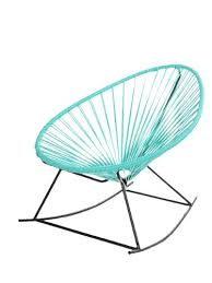 Innit Acapulco Rocking Chair by Acapulco Rocking Chair Rocking Chair In Black Steel Frame And