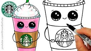 1280x720 Cartoon Food Drawings How To Draw A Starbucks Frappuccino Cute