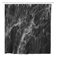 pkqwtm grau marmor schwarz marmor detaillierte struktur in natürlichen badezimmer dekor bad duschvorhang 165x180 cm
