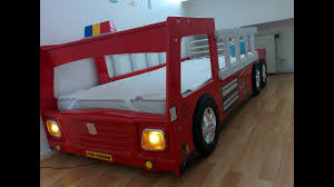 100 Kids Fire Truck Bed CABINO Brandweerauto Bed FIRE TRUCK BED With Lamp And 3D Wheels