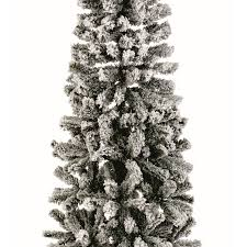 6 Ft Flocked Christmas Tree Uk by 6ft Flocked Spruce Pine Green Christmas Tree