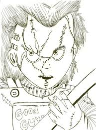Coloring Pages Chucky Doll Again Xd By That Love