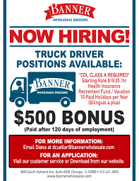 Employment | Banner Wholesale Grocers Delivery Driver Opportunity In Chicago Uber Employment Banner Whosale Grocers 5 Important Things You Should Know About A Career Trucking Truck Driver Jobs America Has Shortage Of Truckers Money After Four Recent Crash Deaths Will The City Council Quire Truck Home Drivejbhuntcom Local Job Listings Drive Jb Hunt Make Money Without College Degree As Carebuilder Cfl Wac On Twitter Looking For New Career New Cdl Traing Science Fiction Or Future Trucking Penn Today Driving Knight Transportation Xpo Logistics