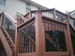 Trex Deck Designer Mac by Metal Handrails For Deck Stairs The Right Steps On Building Deck