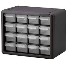 akro mils 16 drawer small parts storage cabinet 10116 the home depot