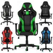Ergonomic Office Gaming Chair Racing Recliner Bucket Seat Computer Desk  Armrest Dxracer Rw106 Racing Series Gaming Chair White Ohrw106nwca Ofm Essentials Style Faux Leather Highback New Padding Ueblack Item 725999 Ascari Ai01 Black Office Official Website Pc Game Big And Tall Synthetic Gaming Chair Computer Best Budget Chairs Rlgear Shield Chairs Top Quality For U Dxracereu Details About Video High Back Ergonomic Recliner Desk Seat Footrest Openwheeler Simulator Driving Simulator Costway Wlumbar Support