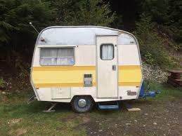 Small 1972 Sprite Travel Trailer Similar In Size And Layout To A Boler Or Trillium Great For Camping Festivals General Loafing Around