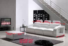 pouf canapé canapé en cuir italien 3 places avec pouf assorti modèle riviéra
