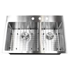 33x22 Stainless Steel Sink Drop In by 33 Inch Top Mount Drop In Stainless Steel Double Bowl Kitchen