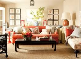 Brown Couch Decor Ideas by Interior Orange Brown Living Room Inspirations Orange And Brown