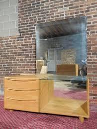 Heywood Wakefield Dresser With Mirror by Heywood Wakefield Encore Triple Dresser With Mirror Wheat