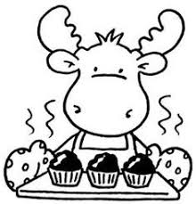 Chocca Lottie Moose Color Or Use Copic Markers Put On Craft Stick Place Cup Cake Pudding Etc