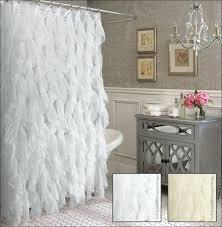 shower curtains tan ruffle shower curtain bathroom inspirations