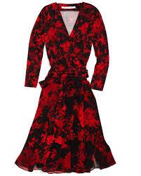 diane von furstenberg irina floral print wrap dress in red lyst