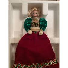 Holiday Jewel Porcelain Barbie Doll