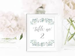 Wedding Table Numbers Set DIY