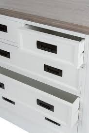 casa padrino landhausstil kommode mit 5 schubladen weiß grau 85 x 40 x h 86 cm landhausstil möbel