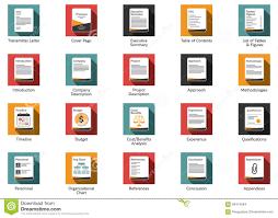 Iconos De La Oferta Del Negocio Ilustración Del Vector Ilustración