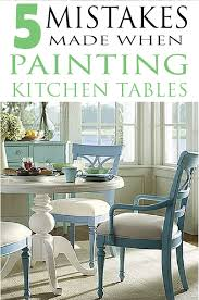 Paint Dining Room Table The 4 Biggest Mistakes People Make When Painting Their Kitchen