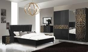 schlafzimmer komplett set leo 6 teilig in schwarz