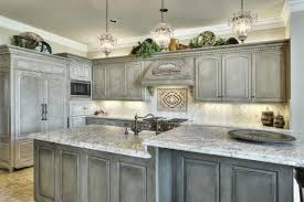 white grey kitchen decoration with white marble kitchen counter