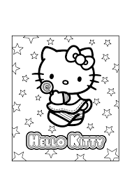 Hello Kitty Coloring Pages To Print Out