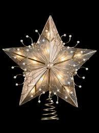 Christmas Tree Toppers by Christmas Tree Star Topper Capiz Star Christmas Tree Topper