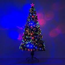 6 Artificial Holiday Fiber Optic LED Light Up Christmas Tree W 8
