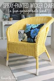 $30 Thursday A Spray Painted Wicker Chair
