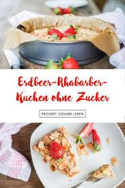 erdbeer rhabarber kuchen mit selbstgemachtem marzipan