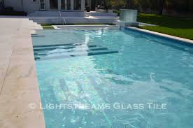 Waterline Pool Tile Designs by Lightstreams Pool Mosaic Glass Tile Ny Skyline