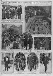 Where In Ireland Did The Lusitania Sink by Some Of The Sixty Six Coffins Of Rms Lusitania Victims Buried In